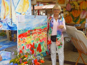 Annemarie voor schilderij